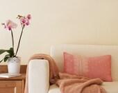 Pale Pink Indian Sari Pillow Cover
