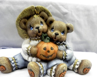 Cuddle Scarecrow Bears H38