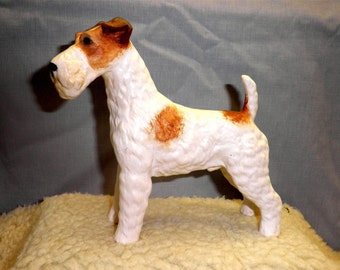 Wired Haired Terrier D 83 Hand Painted Ceramic Dog