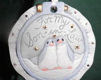 For My Son in Law, hand painted ceramics  SPO-27