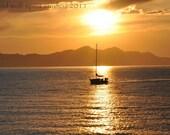 Sailing into the Sunset Landscape Photography Fine Art Photo