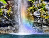 Rainbow Waterfall Nature Photo