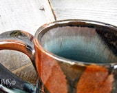 Teal And Burnt Orange Mug