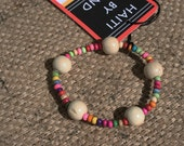 Bracelet by Berta--Colorful Wood Beads