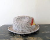 reserved for jeff mad men chic bow tie detailed fedora - size 7 3/8 - hat - feather - his fashion - for him - apparel