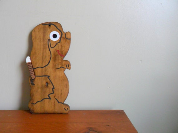 reserved for cathy - reduced clearance - adorable wooden puppy dog cheese tray or cutting board - entertaining - midcentury - serving