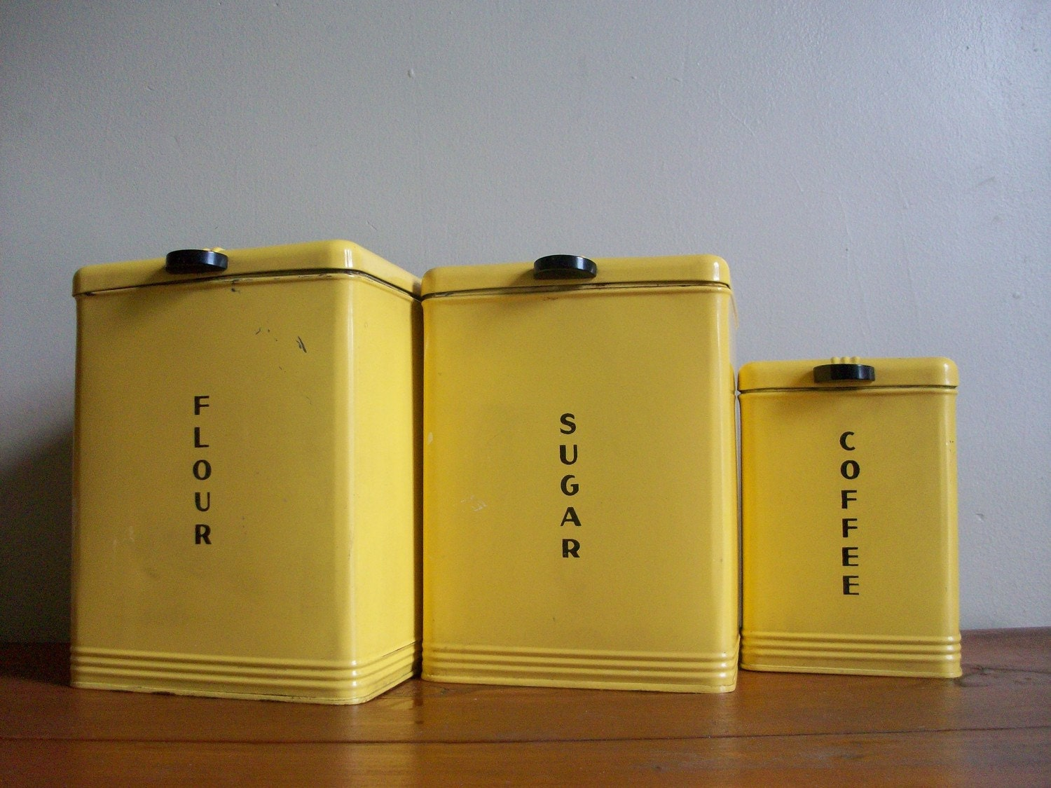 vintage 1950s deco style kreamer kitchen canisters