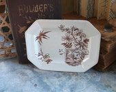 RESERVED for Antiqueabode ONLY No one else may purchase   ANTique  ENGlish Brown Transferware