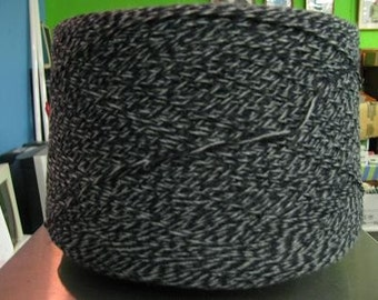 3/15 Acrylic Cone Yarn Navy, Gray  Marl, Sport Weight Acrylic Yarn, Ragg Yarn, Marl Yarn, Knitting Yarn, Crochet Yarn, Weaving Yarn REDUCED