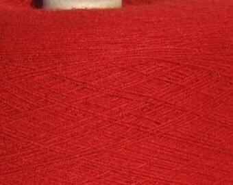 Red Acrylic Yarn on cones, Tamale Red acrylic Yarn