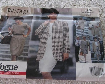 1992 Vintage Vogue 2834 Career Wardrobe Sewing Pattern