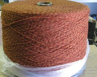Acrylic Cone Yarn 3/15 Rust Marl Tweed