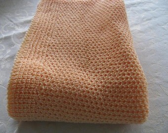 Baby Blankets Handmade Peach, Baby Blankee Sage Green,  Baby Bedding Lavender, Teal LapRobe,Yellow Knitted  Acrylic Baby Blanket Laprobe