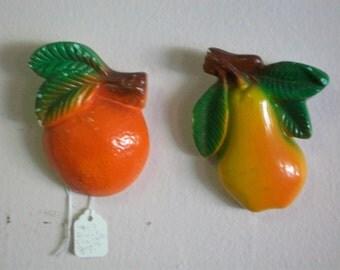 Vintage Chalk Fruit