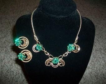 Vintage Signed Barclay Necklace and Earring Set MEGA SALE