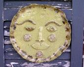 Garden art ceramic sun plaque outdoor wall hanging