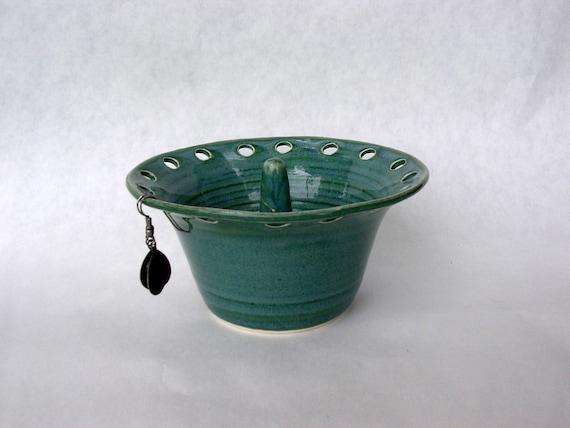 Ring holder earring organizer dish turquoise glaze