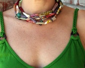Fabric Bead Necklaces (set of 3)