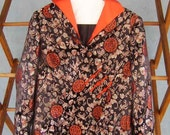 Gorgeous VINTAGE Oriental satin brocade jacket Size Medium