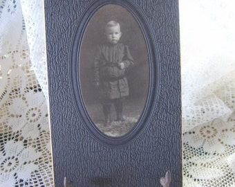 Antique Photo of Little Boy Dated 1909