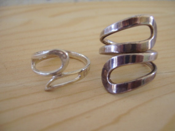 VIntage Sterling Silver wrap rings (2)