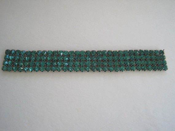 Reserved Vintage Emerald Green Rhinestone Paste Sew On Trim Embellishment Jewelry Flapper Headband  Projects Trim Edging Supplies
