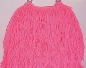 RESERVED FOR SERENA Crochet handbag- Hot Pink