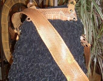 Black Crochet Shoulder Bag