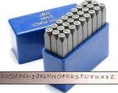 "Comic Uppercase Metal Alphabet Stamps - 1/8"" (3mm)"