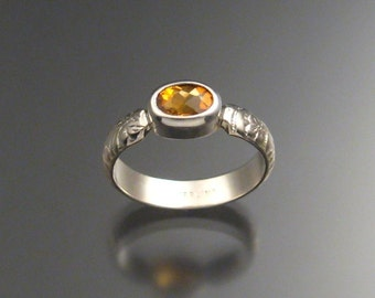 Citrine ring, Sterling, any size