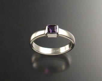 Amethyst ring, Sterling, any size