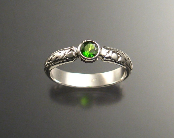 Chrome Diopside ring Sterling silver Emerald substitute ring made to order in your size