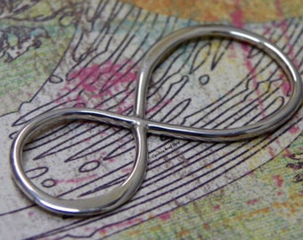 Infinity Link Extra Large Sterling Silver - C2711, Figure 8 Charms, Connector Links, Sideways Charms