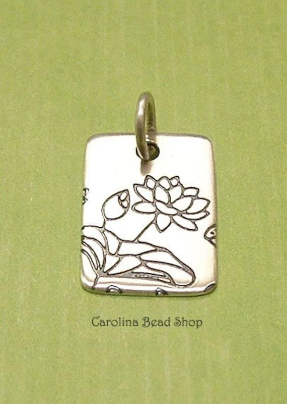 Pure Lotus Pendant -Sterling Silver - C2519, Closeout Sale, Meditation, Yoga, Flower Blossom, Zen
