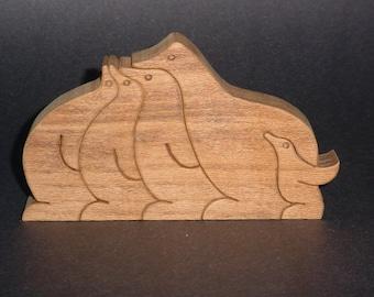 Penguin Wooden Standup Puzzle