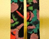 RESERVED - SALE-Vintage Funky Print Suspenders
