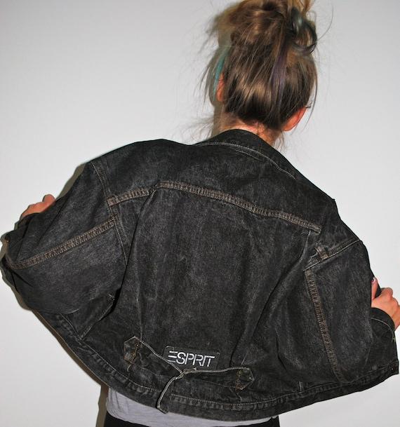 Vintage Black Denim Esprit Jacket