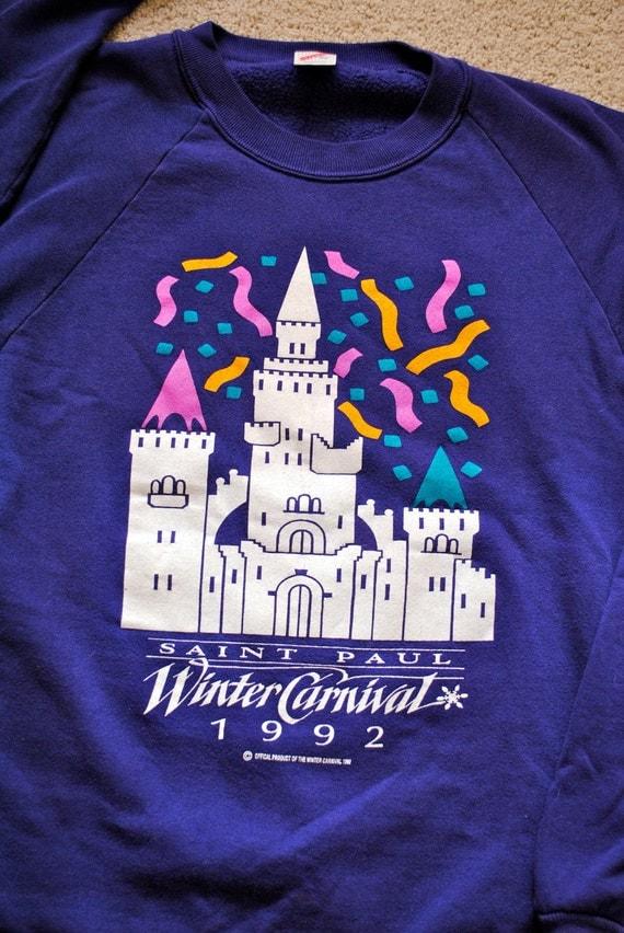 Vintage St. Paul Winter Carnival Crew Neck Sweatshirt