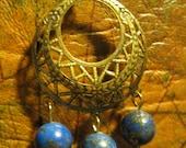 Little Worlds Blue Lapis Earrings