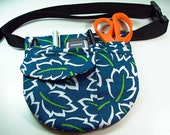small tool belt for women in blue print
