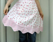 Vintage Pink and White Apron