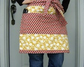 Red and Yellow Floral Utility Apron