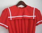 vintage cherry red nautical dress