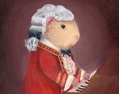 Guinea Pig Mozart Classical Music Art Print