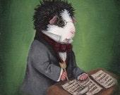 Guinea Pig Franz Schubert Classical Music Art Print