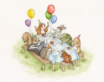 Guinea Pig Birthday Party fine art print