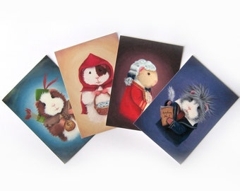 ACEO bundle - ANY 4 Cute Mini Art Prints of Your Choice