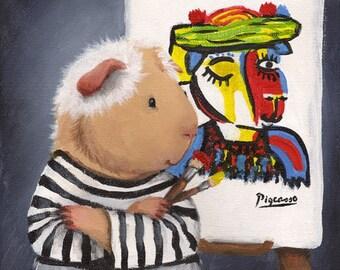 Pablo Pigcasso Guinea Pig Picasso Portrait