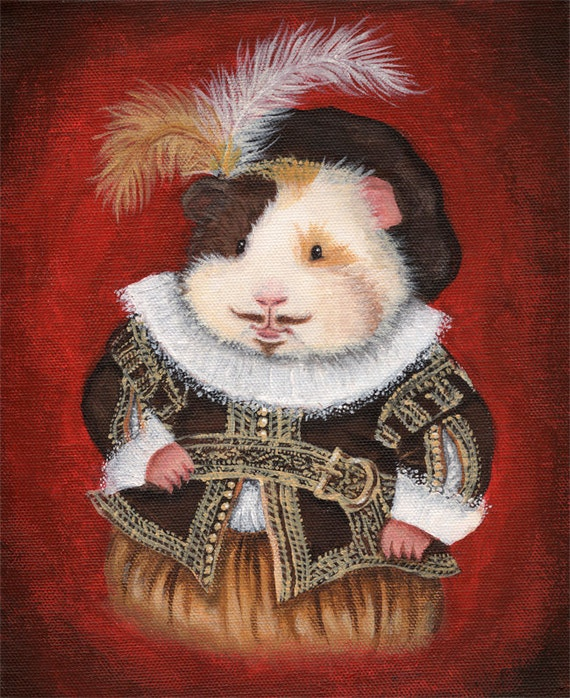 William Haykespeare - Shakespeare Guinea Pig Portrait