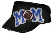 Sequin Cadet Cap - Football MOM